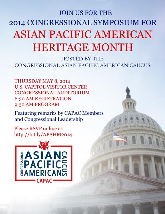 2014 Congressional Symposium for Asian Pacific American Heritage Month